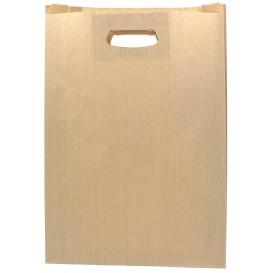 Sacchetti Carta Kraft Manico Fagiolo 31+8x42cm (50 Pezzi)