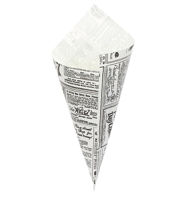 Cono di Carta Greaseproof Parchment 240mm 100g (2.000 Pezzi)