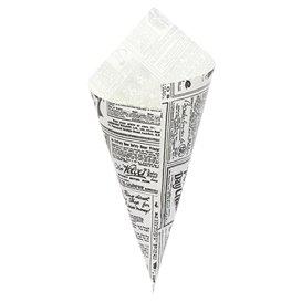 Cono di Carta Greaseproof Parchment 240mm 100g (250 Pezzi)