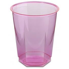 Bicchiere Plastica Esagonale PS Glas Fucsia 250ml (10 Uds)