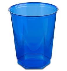 Bicchiere Plastica Esagonale PS Glas Blu 250ml (10 Uds)