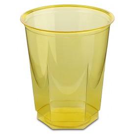 Bicchiere Plastica Esagonale PS Glas Giallo 250ml (10 Uds)