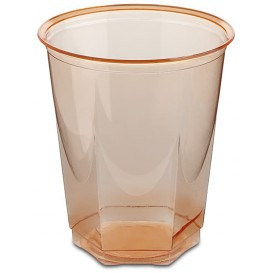 Bicchiere Plastica Esagonale PS Glas Arancione 250ml (250 Uds)