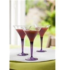 Coppa di Plastica Cocktail con Gambo Prugna 100 ml (6 Pezzi)