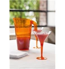 Coppa di Plastica Cocktail con Gambo Arancione 100 ml (48 Pezzi)