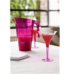 Coppa di Plastica Cocktail con Gambo Lampone 100 ml (48 Pezzi)
