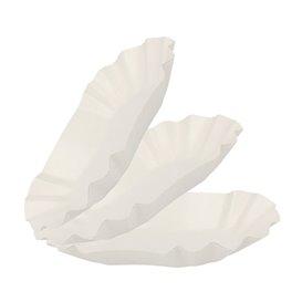Vassoio di Cartone Ovale Plastificato 20x12x3,5cm (1000 Pezzi)