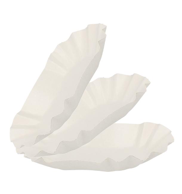 Vassoio di Cartone Ovale Plastificato 20x12x3,5cm (50 Pezzi)