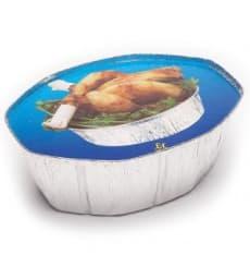 Tapa Cartón Envases Aluminio Ovalado Pollo (500 Uds)