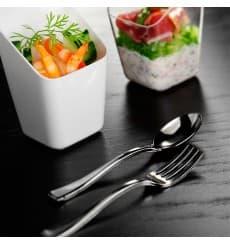 Mini Forchetta di Plastica Metallo 100mm (100 Pezzi)