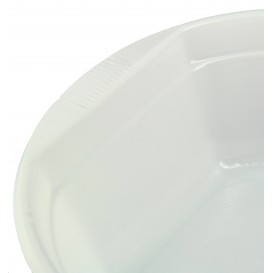 Ciotola di Plastica PS Bianca 630ml Ø16cm (100 Pezzi)