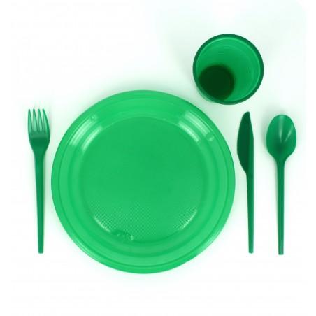 Coltello di Plastica PS Verde 165 mm (900 Pezzi)