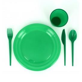 Coltello di Plastica PS Verde 165 mm (15 Pezzi)