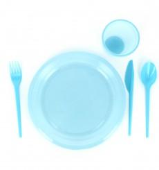 Cucchiaio di Plastica PS Blu 165 mm (15 Pezzi)