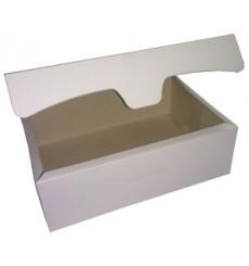 Scatola di Carta Pasticcerie 20,4x15,8x6cm 1Kg Bianco (200 Pezzi)