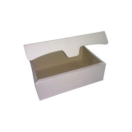Caja para Pasteleria Carton 18,2x13,6x5,2cm 500g. Blanca  (250 U