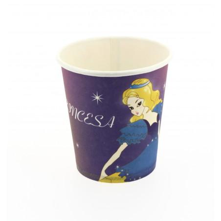 Vaso Carton 200 ml. Diseño Princesas (500 unidades)