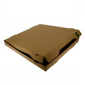 Scatola Cartone Kraft 33x33x3,5 cm (100 Pezzi)