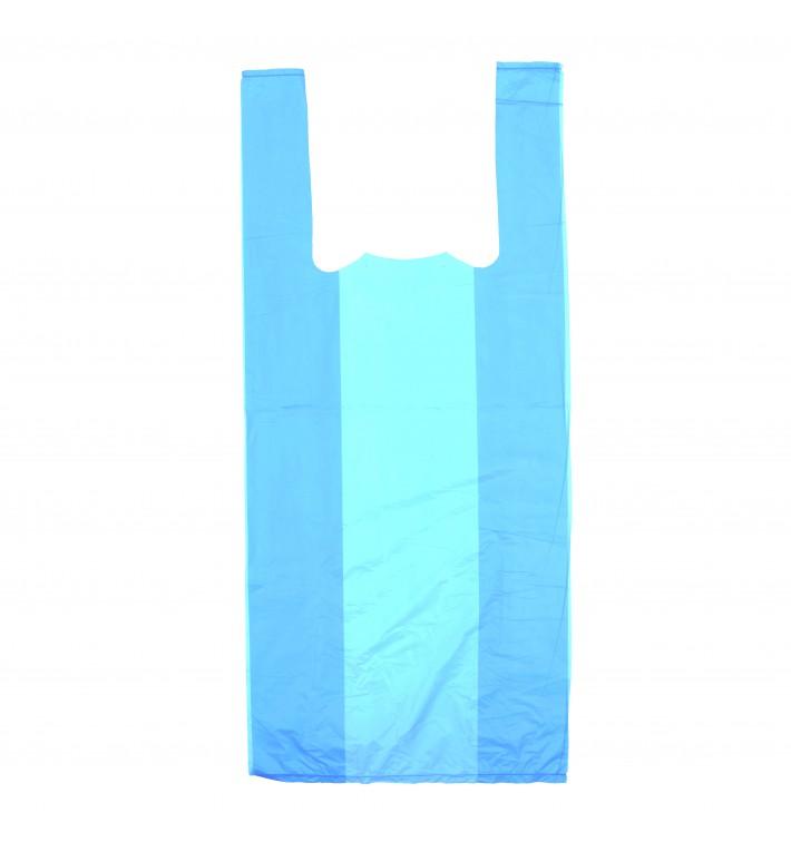 Sacchetto di Plastica Canottiera 35x50cm Blu (200 Pezzi)