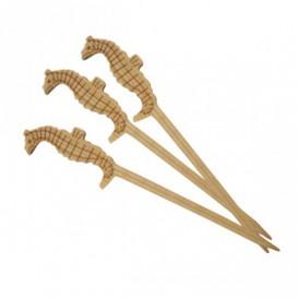 Spiedi di Bambu Decorato Ippocampo 90mm (10000 Pezzi)