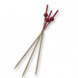 Spiedi di Bambu Ball Rosso 90 mm (10000 Pezzi)