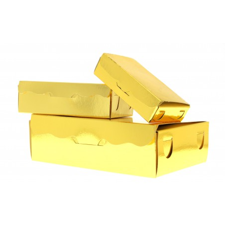 Scatola per Dolci e Praline Oro 11x6,5x2,5cm 100g (5 Pezzi)
