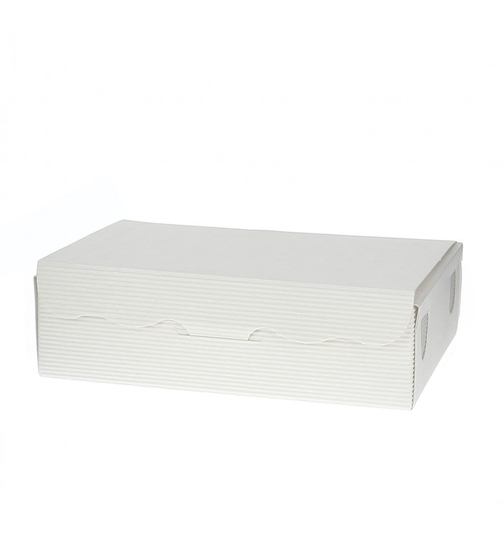 Scatola per Dolci e Praline Bianco 14x8x3,5cm 250g (5 Pezzi)