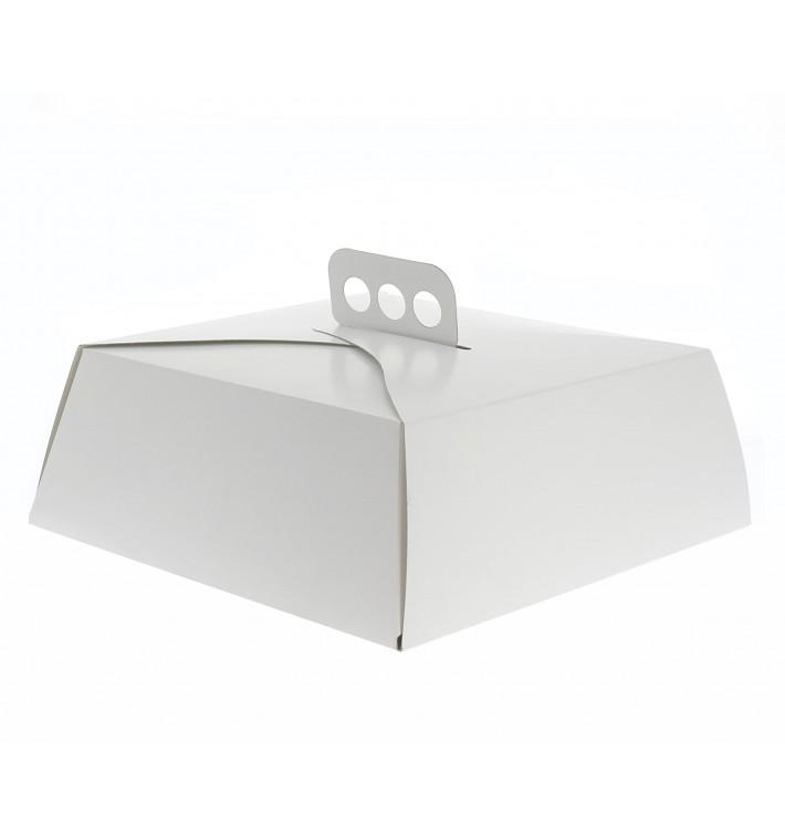 Scatola di Carta Bianca Torte Quadrata 34,5x34,5x10 cm (50 Pezzi)