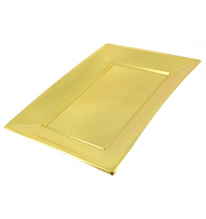 Vassoio Plastica Oro 330x225mm (60 Pezzi)