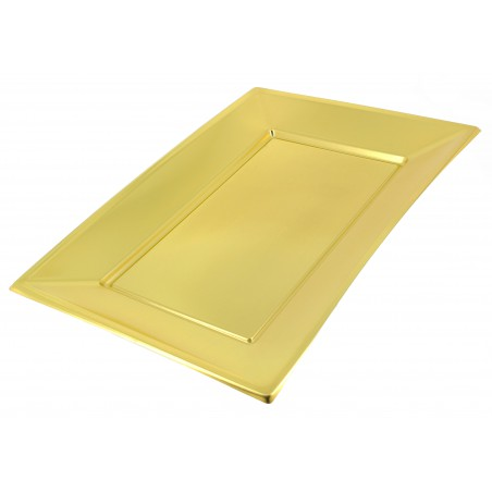 Vassoio Plastica Oro 330x225mm (120 Pezzi)