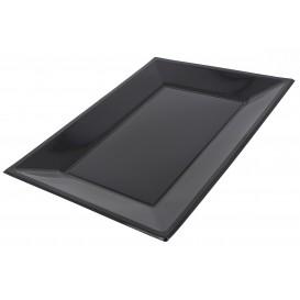 Vassoio Plastica Nero 330x225mm (3 Pezzi)