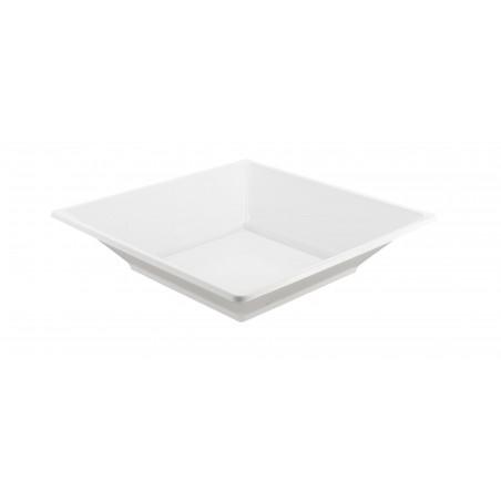 Piatto Plastica Fondo Quadrato Bianco 170mm (375 Pezzi)