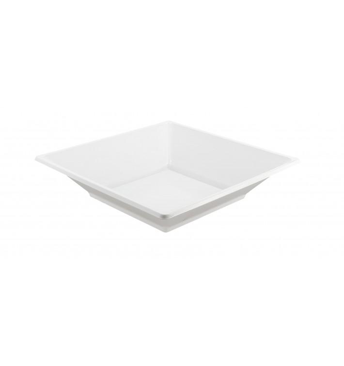 Piatto Plastica Fondo Quadrato Bianco 170mm (25 Pezzi)