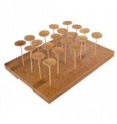 Contenitori di Bambu per Spiedi di Bambu 25x30x1,3cm (20 Pezzi)