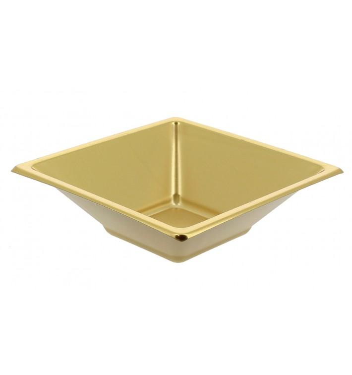 Ciotola Plastica Quadrato Oro 120x120x40mm (150 Pezzi)