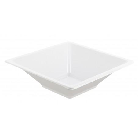 Ciotola Plastica Quadrato Bianco 120x120x40mm (12 Pezzi)