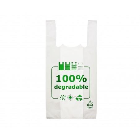 Sacchetto di Plastica Canottiera 100% Degradabile 30x40cm (200 Pezzi)
