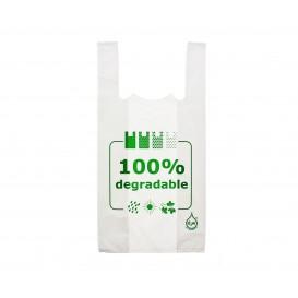 Sacchetto di Plastica Canottiera 100% Degradabile 35x50cm (200 Pezzis)