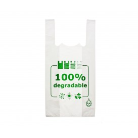 Sacchetto di Plastica Canottiera 100% Degradabile 40x60cm (200 Pezzi)