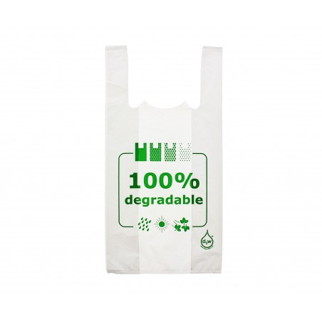Sacchetto di Plastica Canottiera 100% Degradabile 40x60cm (1600 Pezzi)