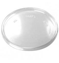Coperchio Plano di Plastica Trasparente 105mm (100 Pezzi)