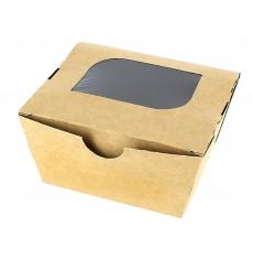 Contenitore di Carta Premium 11x10x5,5cm 400ml (10 Pezzi)