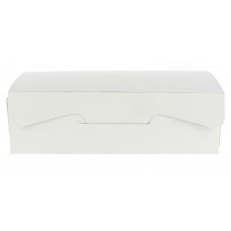 Scatola di Carta Pasticcerie 17,5x11,5x4,7cm 250g.Bianco (5 Pezzi)