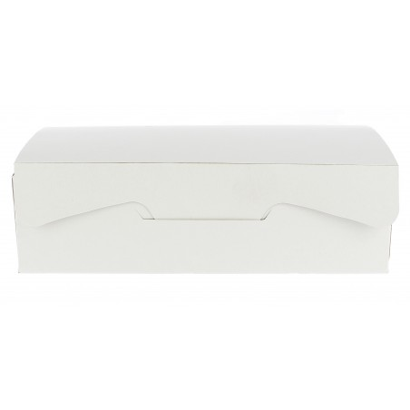 Scatola di Carta Pasticcerie 18,2x13,6x5,2cm 500g.Bianco (250 Pezzi)