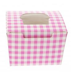 Scatola 1 Cupcake con Inserto 11x10x7,5cm Rosa (200 Pezzi)