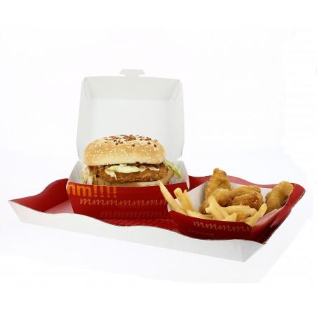 Scatola di Carta Hamburger 14x13x7,0cm (25 Pezzi)
