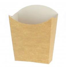 Scatola Kraft per Fritte Mediano 8,2x3,5x12,5cm (25 Pezzi)