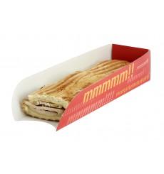 Porta Cartone Hot Dog 17x5x3,5cm (100 Pezzi)