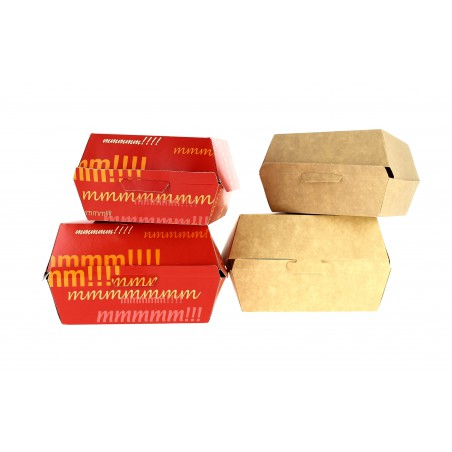 Scatola di Carta Hamburger 14x13x7,0cm (450 Pezzi)