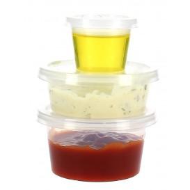 Bicchiere Coppetta Salse PP 33 ml con Coperchio (100 Pezzi)